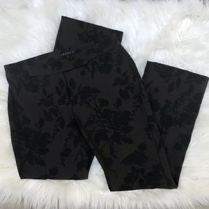 Theory Floral Brown Black Trousers